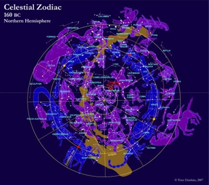 Celestial zodiac 600BC