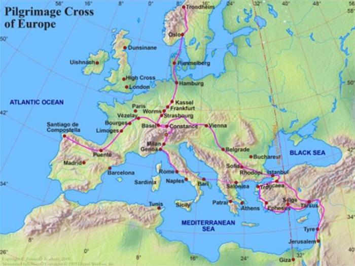 Pilgrimage cross of Europe
