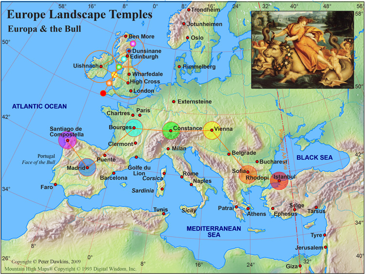 Landscape temple europe